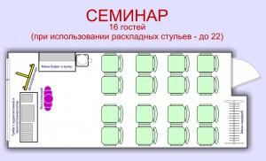 План Семинар. Мини-зал для проведения семинаров, тренингов, совещаний, мастер-классов