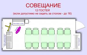 План Совещание. Мини-зал для проведения совещаний, семинаров, мастер-классов, тренингов
