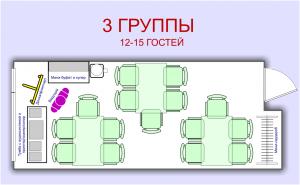 План 3 группы. Мини-зал для проведения совещаний, семинаров, мастер-классов, тренингов